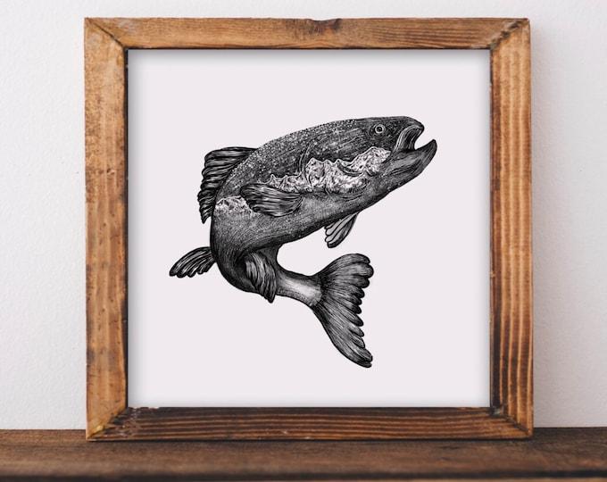 Jumping Salmon Fine Art Print