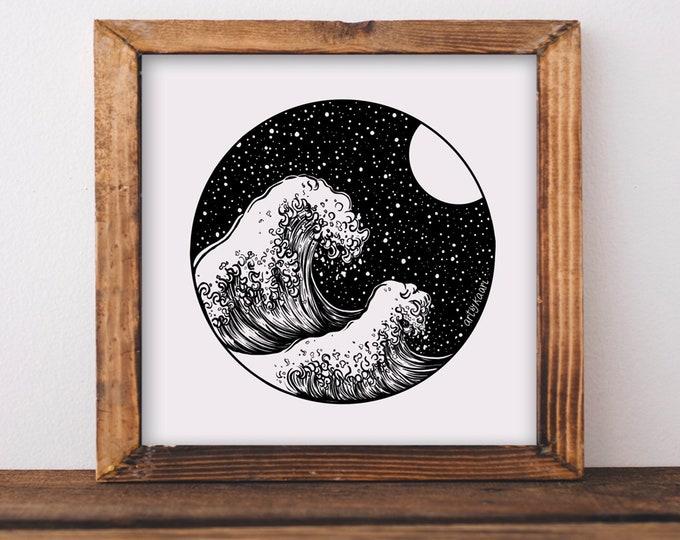 Waves + Night Sky Fine Art Print