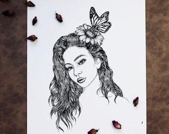 Woman + Butterfly