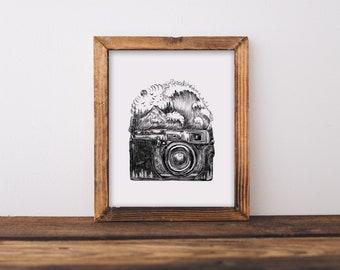 Camera + Waves Fine Art Print