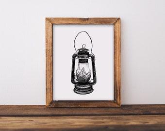 Lantern I Fine Art Print