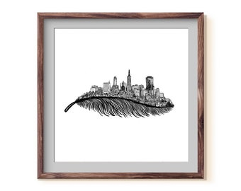 Feathered San Francisco Skyline