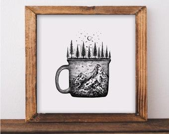 Forested Coffee Mug Fine Art Prin