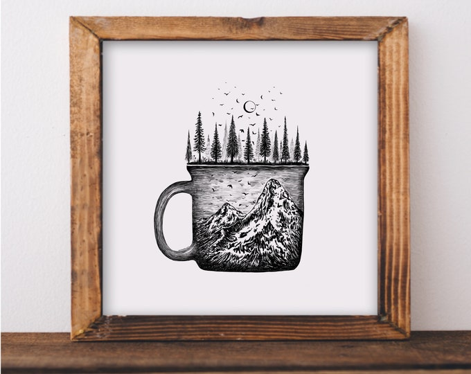 Forested Coffee Mug Fine Art Prin