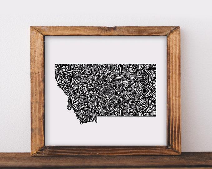Montana + Mandala Fine Art Print
