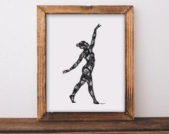 Butterfly Dancer Art Print
