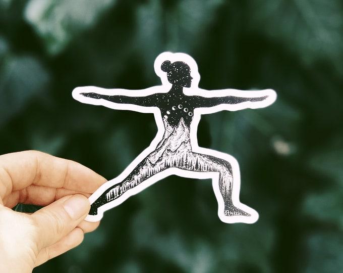 Yoga Pose I Vinyl Sticker