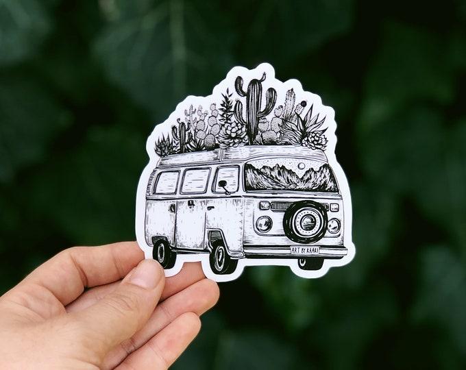 Cacti Van Vinyl Sticker