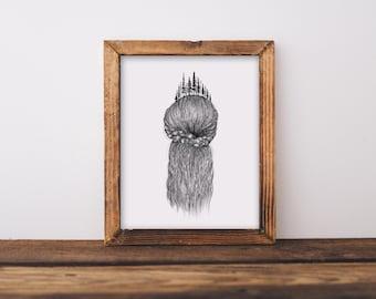 Forested Hair I Fine Art Print