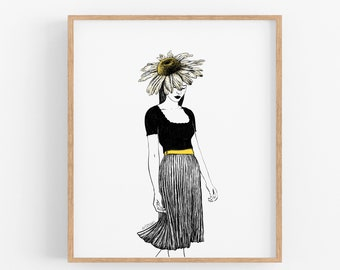 Daisy Girl Art Print