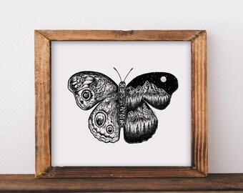 Mountainous Butterfly Fine Art Print