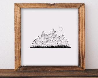 Mountains - Fitz Roy Fine Art Print