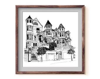Victorian Houses / San Francisco, California