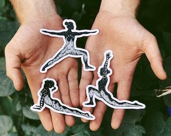 Yoga Poses Vinyl Sticker Pack