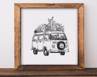 Cacti Van Fine Art Print
