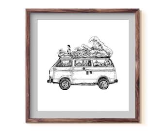 Van + Waves Fine Art Print