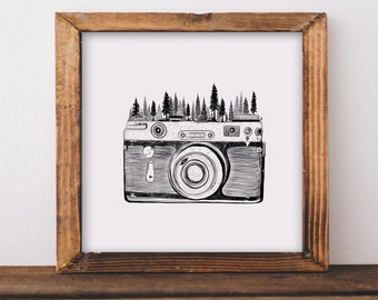 Forested Camera Fine Art Print