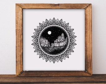 Mandala + Arches National Park Fine Art Print