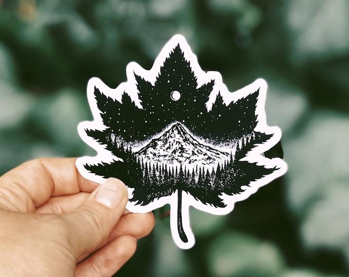 Mountain Leaf Vinyl Sticker