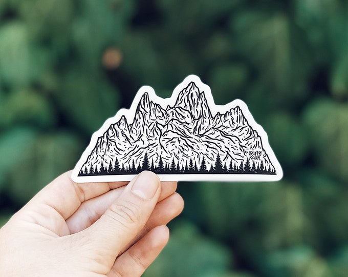 Mountains + Trees Vinyl Sticker