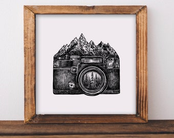 Mountain Camera Fine Art Print