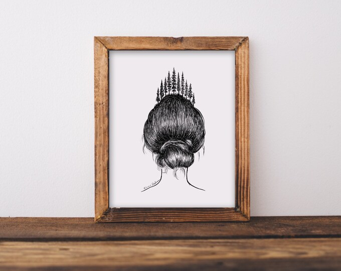 Forested Hair II Fine Art Print