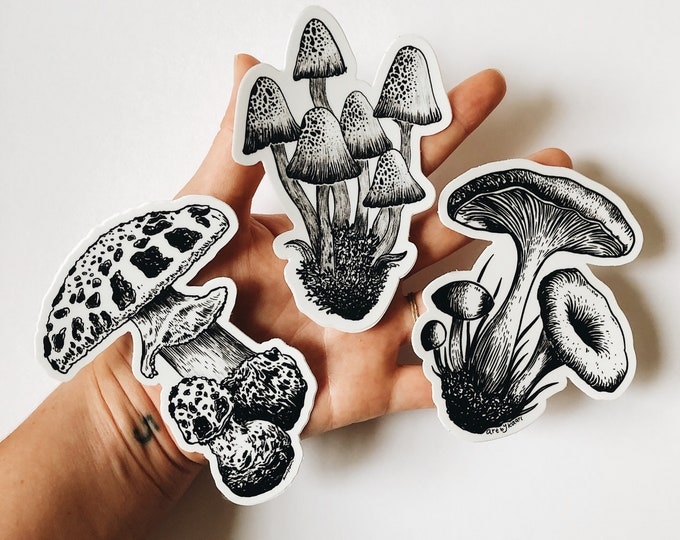 Art by Kaari Mushroom Sticker Pack (set of 3)