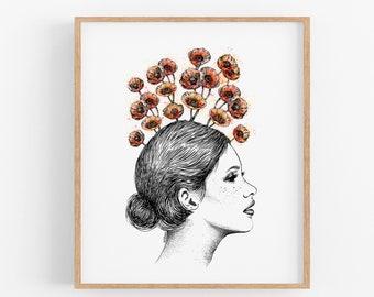 Poppies in Bloom Art Print