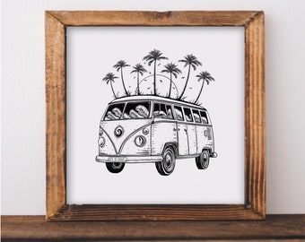 Beach Van Art Print