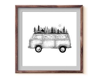 Forested Van Fine Art Print