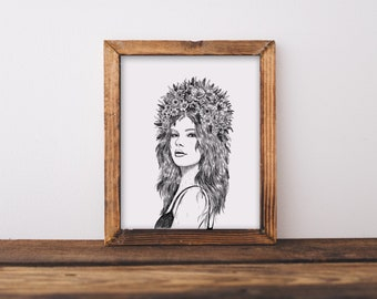 Floral Woman I Fine Art Print