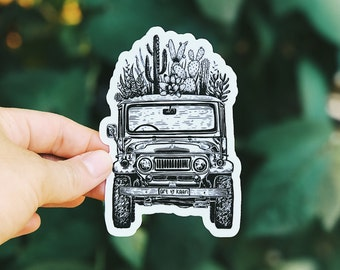 Cactus Jeep Vinyl Sticker