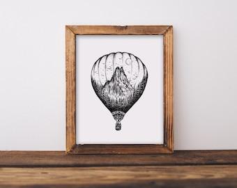 Hot Air Balloon Fine Art Print