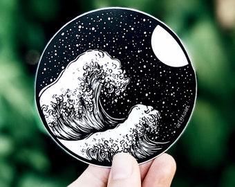 Waves + Night Sky Vinyl Sticker