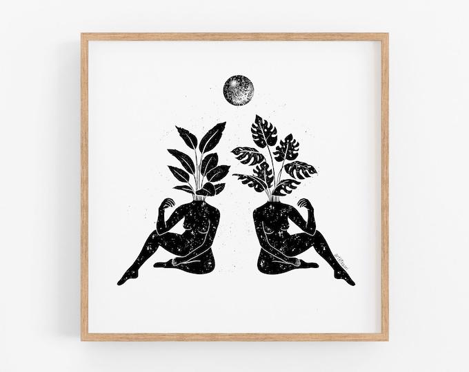 Beneath the Same Moon Art Print