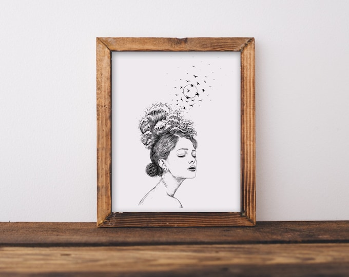 Woman + Waves Fine Art Print