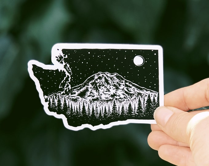 Washington + Mt. Rainier Vinyl Sticker