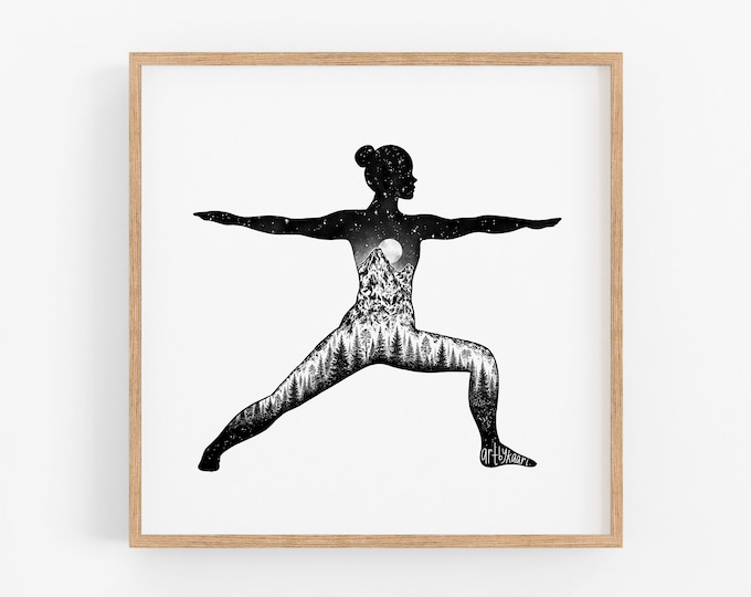 """Yoga Pose I"" Art Print"