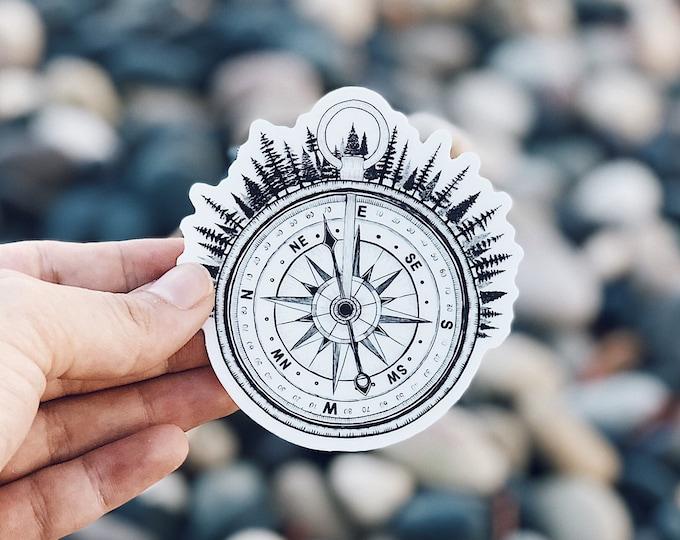 Compass Vinyl Sticker