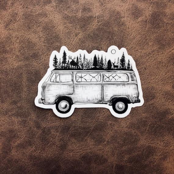Forested Van Sticker