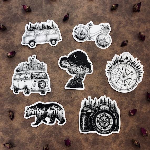 Set of 7 ArtbyKaari Stickers