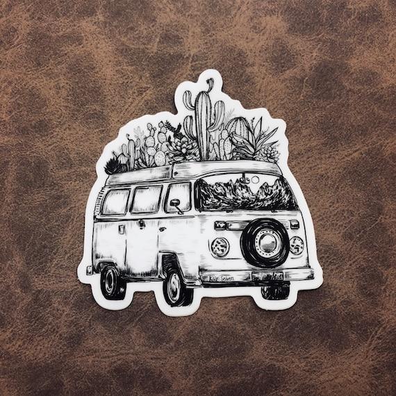 Cacti Van Sticker