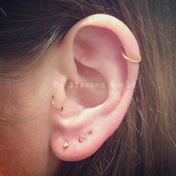 8mm Rose GoldSilver Cartilage Earring Helix Ring Hoop  SeptumNoseCartilageHelixTragus Ring Hoop Nose Hoop Nose Ring