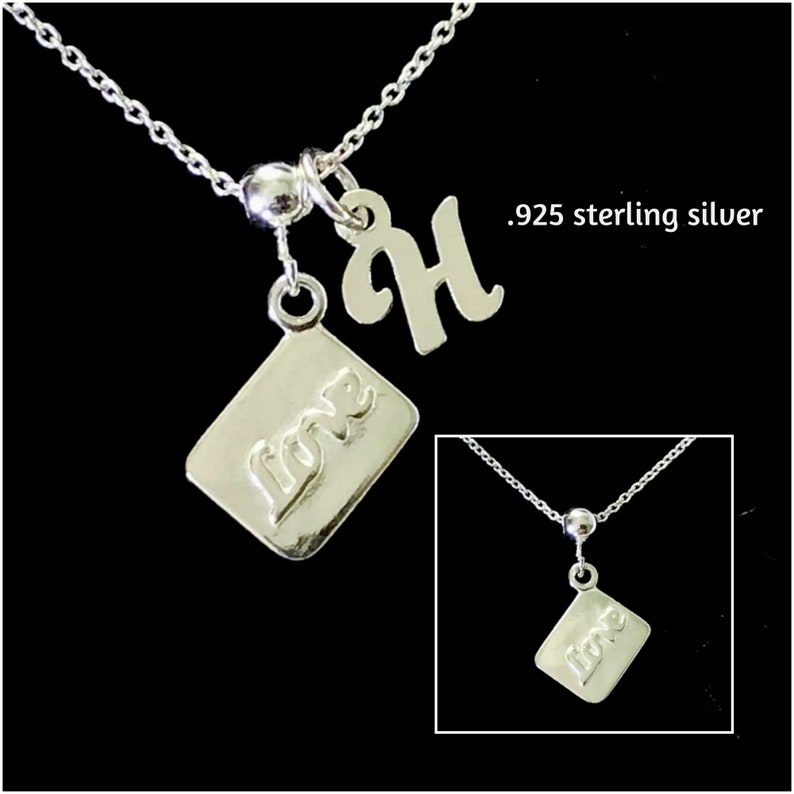 Christmas Valentines Gift Gift For her Love Letter Necklace Envelope Necklace Birthday Gift Sterling Silver Mail Necklace