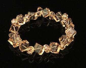 Light Topaz Swarovski Crystal Bracelet