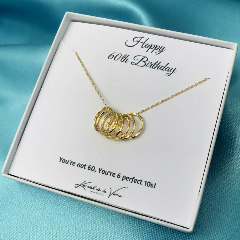 Anniversary Gift For Her Gold Circle Necklace Girlfriend Wife Bridesmaid Bestfriend Aunt Mom Sister Gift 60th Birthday Necklace