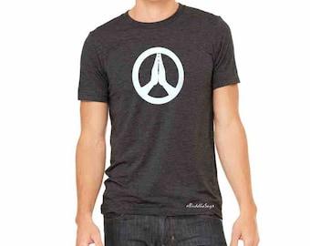 Peace-Namaste - Unisex yoga activewear tee  Style 413- Scoop  Neck