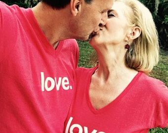 Love. -  yoga activewear  tri-blend V-neck Tee- Style 675 (Ladies) and 415 (Unisex)