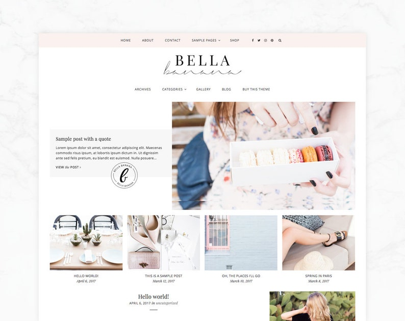 Responsive Wordpress Theme  Genesis Child Theme  Bella image 0