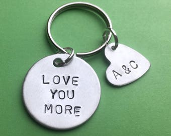 Personalised gift, Love you more, Ideas for mens Anniversary gifts, Boyfriend/girlfriend, Newlywed gifts for him, Boyfriend keychain